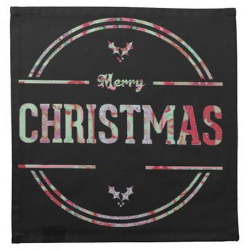 Merry Christmas Greeting Napkin