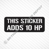 This Sticker Adds 10 HP Funny Helmet Sticker Vinyl Decal Sport Bike Decal Motorcycle Sticker Car Truck Sticker JDM Sticker Fits Honda Acura