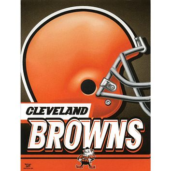 "Cleveland Browns - Helmet 27""X37"" Vertical Flag"