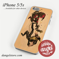 Deadpool VS Wolverine Phone case for iPhone 4/4s/5/5c/5s/6/6 plus