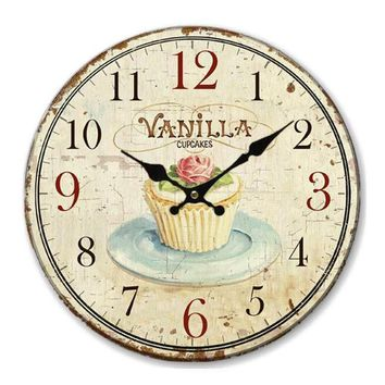 Floral Vintage Shabby Chic Pastel Home Retro Wall Clock