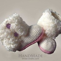 CHEN1ER Handmame baby bootees 'Uggs'