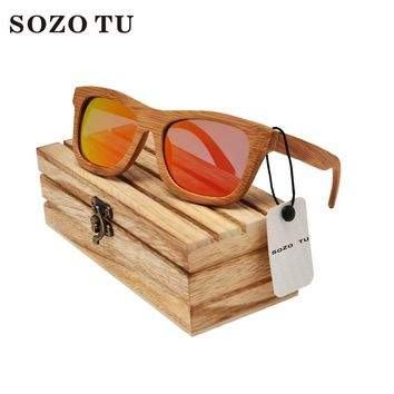 SOZO TU Kylie  Wood Sunglasses Black  Square Polarized Gray Lenses Unisex Sunglasses Holder Ken Block Wood Sunglasses Black