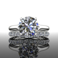 Forever Brilliant Moissanite Engagement Ring Set 3.00 CTW