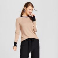 Women's Color Block Crew Neck Luxe Any Day Pullover - A New Day™