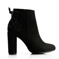 Eddy Lace Back Bootie - Black