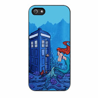 Tardis Dr Who And Ariel Little Mermaid Sea iPhone 5s Case