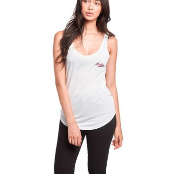 Big League Double Scoop Tank- White