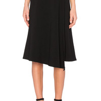 Enza Costa Wrap Skirt in Black