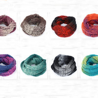 Gradual Woolen Neck Warmer Colorful Knit Scarf