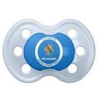 Oklahoma Sooner State Personalized Flag BooginHead Pacifier