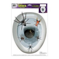 Amazon.com: Spider Toilet Topper Peel 'N Place Party Accessory (1 count) (1/Sh): Toys & Games