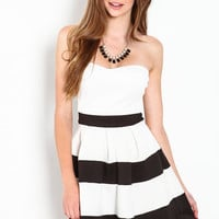 STRIPED SWEETHEART DRESS