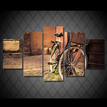 Old Bicycle Bike Photography Canvas Wall Art Panel Print Picture Framed UNframed