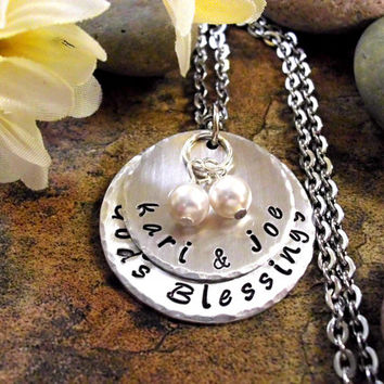 Wedding Necklace, God's Blessings, Personalized Engagement Jewelry, Engagement Necklace, Anniversary Necklace, Anniversary Jewelry