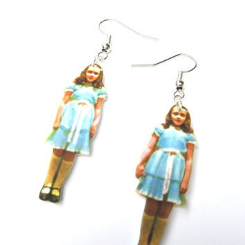 The Grady Twins Earrings, the Shining, Geekery, Creepy, Halloween Jewelry