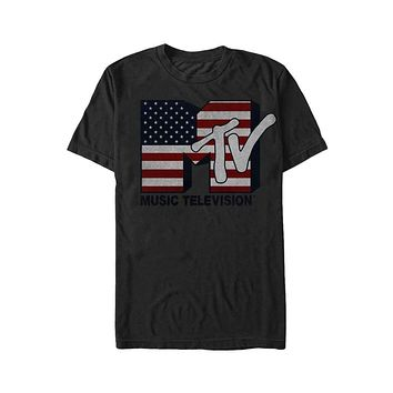 Mens MTV Rock USA T-Shirt