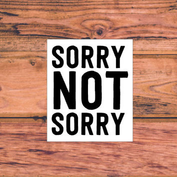 Sorry Not Sorry | Sassy Chick Decal | Preppy Girl | Sass Decal | Arrow Decal | Southern Arrow Decal | Preppy Arrow Decal | Sassy | 333