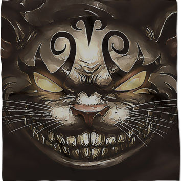 Follow the white rabbit Alice ;) Cheshire cat reimagined, stylish bandana, kerchief