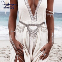 Dvacaman Brand 2017 Women's Waist Chain Tribal Boho Party Body Jewelry Alloy Leaves Tassel Vintage Belly Dance Femme Bijoux DD60