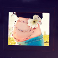 Maternity Sash Photography Prop Chained Daisy by RockyMtnFringe