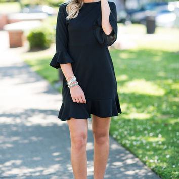 Always So Peppy Dress, Black