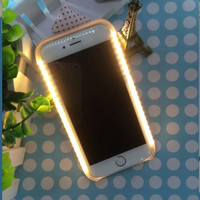 Light LED Flash Case Selfie Hard Lights Phone Case for iPhone 5 5S SE 6s Samsung galaxy s6 s6edge s7 s7edge s6edge plus