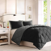 Larkspur Microfiber Reversible Down Alternative Comforter Set - JCPenney