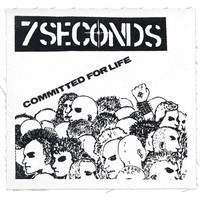 7 Seconds Men's Committed For Life Cloth Patch White