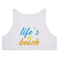 Life's a Beach | Crop Tank | SKREENED