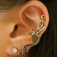 Bronze French Twist Ear Cuff