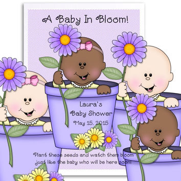 Spring Baby Shower Seed Favors