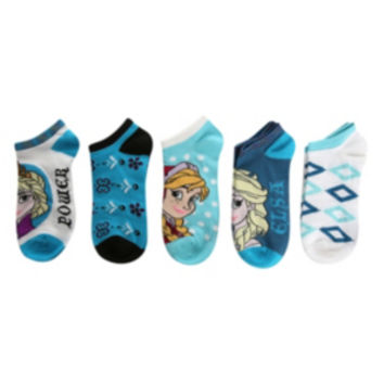 Disney Frozen No-Show Socks 5 Pair
