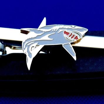 Shark Tie Bar Great White Tie Clip~Handmade in the USA~FAST Shipping from the USA