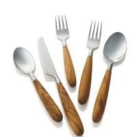 Tapered Teak Flatware - VivaTerra