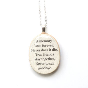 Best friend necklace wood best friend jewelry going away gift friendship necklace personalized jewelry graduation gift  best friends