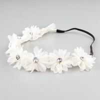 FULL TILT Chiffon Flower Headband | Hair Accessories