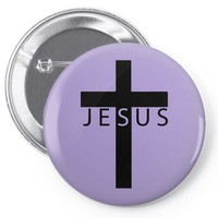 jesus cross Pin-back button