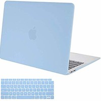 MOSISO MacBook Air 13 Inch Case 2018 Release A1932 with Retina Display, Plastic Hard Case Shell & Keyboard Skin Cover Only Compatible Newest MacBook Air 13 with Touch ID, Airy Blue
