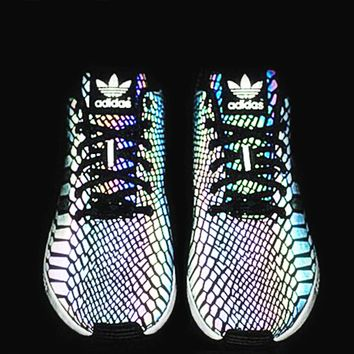 "Fashion ""Adidas"" Chameleon Reflective Sneakers Rainbow Color Sport Shoes"