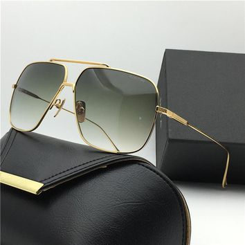 luxury brand sunglasses Flight 005 18K gold plated men's metal frame Classic steampunk Sunglasses top quality UV400 lens with original box