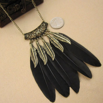 Mystic Feather Pendant & Necklace