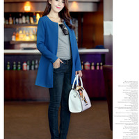 Aliexpress.com : Buy Free shipping 2013 Autumn fashion new Korean long suit women windbreaker ladies coats casual round Neck suit FLA1090 9030 45 from Reliable suit track suppliers on eFoxcity Wholesale