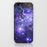 Purple Nebula Galaxy iPhone Case iPhone & iPod Skin by RexLambo