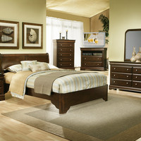 Alpine Chesapeake California King  Low Footboard Sleigh Bed