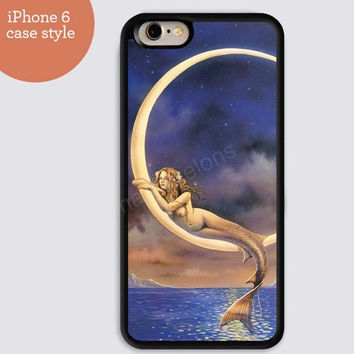 iphone 6 cover, moon Mermaid loves iphone 6 plus,Feather IPhone 4,4s case,color IPhone 5s,vivid IPhone 5c,IPhone 5 case Waterproof 502
