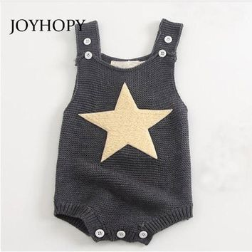 Fashion Star Baby Romper 2018 Spring Autumn Newborn Baby Clothes Kids Girls Boys Jumpsuit Infant Knitted Rompers
