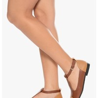 RUST Smarty Pants Cut Out Mary Janes | $12.50 | Cheap Trendy Flats Chic Discount Fashion for Women