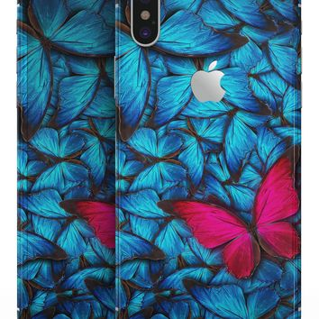 Contrasting Butterfly - iPhone X Skin-Kit