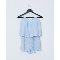 Sweet As Can Be Romper - Blue